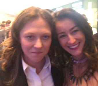 Olga Chajdas & Ekran's Marta Pozniakowski at the 43rd Polish Film Festival in Gdynia